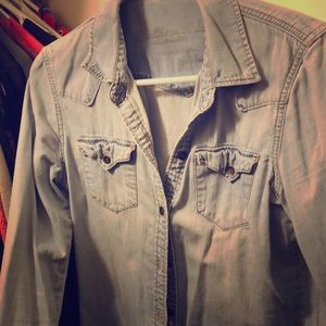 CLOSET CLEAROUT Jean lightweight button up jacket